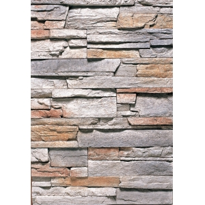 Anti-fire Stacked Stone Fireplace
