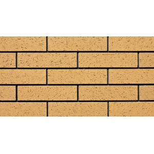 Bright Yellow Scraped Brick Veneers